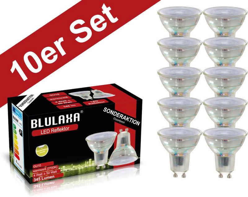 BLULAXA »Retro Multi« LED-Leuchtmittel, GU10, 10 Stück, Warmweiß, 10er-Set, Promotion-Pack Strahler