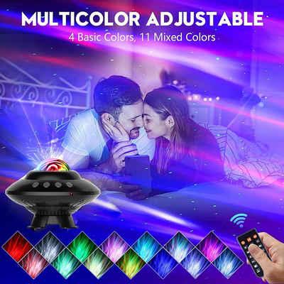 XIIW LED Nachtlicht »Sternenhimmel LED-Projektor Nachtlicht Galaxy Starry Mond Weihnachten Lampe Bluetooth USB mit Fernbedienung«, Lautsprecher & Timer Funktion, 3 Beleuchtungsmodi