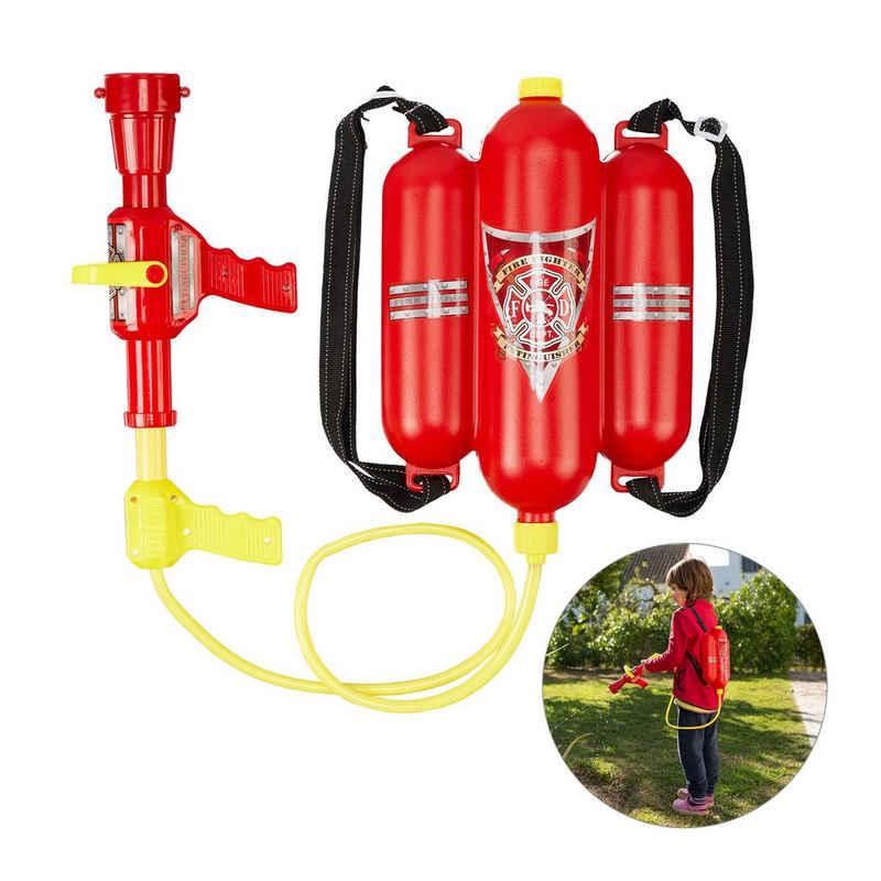 relaxdays Wasserpistole »Feuerwehr Wasserspritze Kinder«