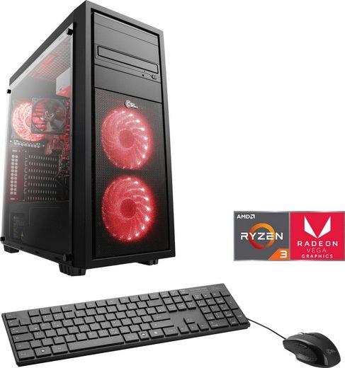 CSL Sprint T8390 Gaming-PC (AMD Ryzen 3 3200G, Radeon Vega 8, 8 GB RAM, 1000 GB HDD, 240 GB SSD, Luftkühlung)