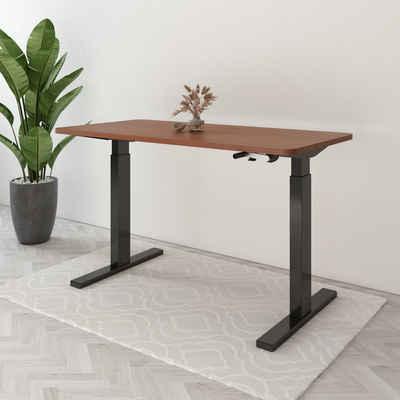 FLEXISPOT Schreibtisch »H2«, Höhenverstellbarer Schreibtisch inkl. Tischplatte, 120 x 60cm, mit einer Kurbel, von 72cm bis zu 123cm