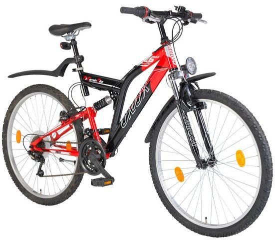ONUX Mountainbike »Phoenix«, 26 Zoll, 18 Gang, V-Bremsen
