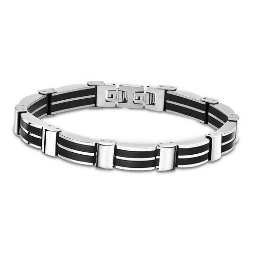 Lotus Style Edelstahlarmband »JLS1878-2-3 Lotus Style Armband schwarz LS1878-2/3« (Armband), Armbänder für Herren Edelstahl (Stainless Steel)
