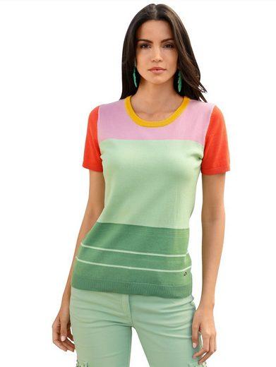 Amy Vermont Rundhalspullover im Colorblocking-Dessin