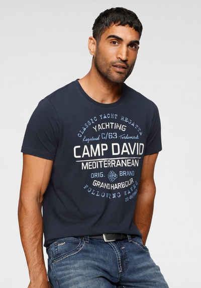 CAMP DAVID T-Shirt mit großem Frontprint