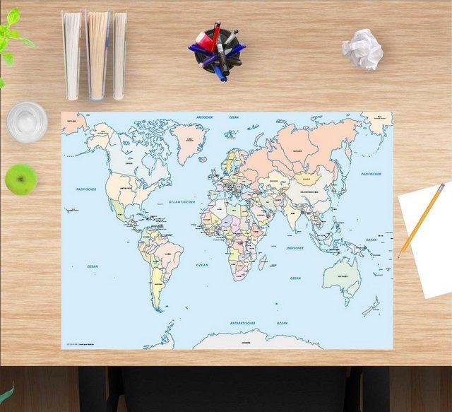 Kindertische - cover your desk.de Schreibtischaufsatz »Schreibtischunterlage für Kinder – Weltkarte Kinder – 60 x 40 cm – aus hochwertigem Vinyl«, (1 St)  - Onlineshop OTTO