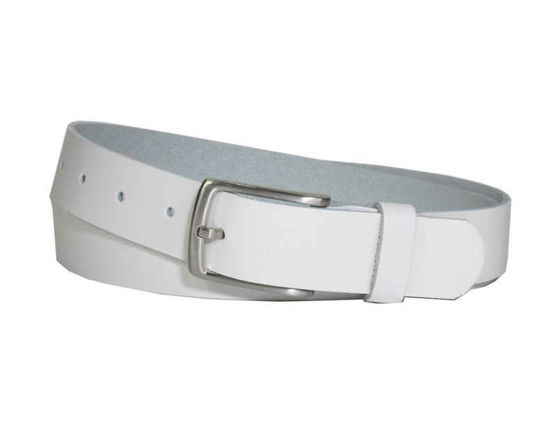 COLOGNEBELT Ledergürtel »C10-SL« 3 cm breiter Ledergürtel in Weiß mit feiner Gürtelschnalle