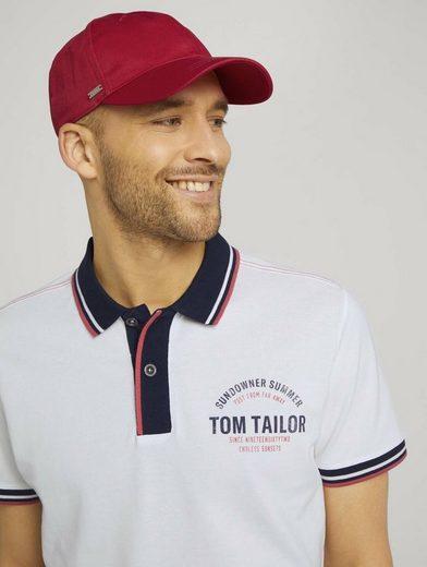TOM TAILOR Stoffgürtel »Cap mit Logo Stickerei«