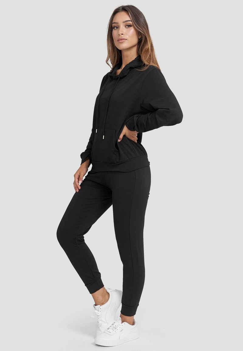 Holala Trainingsanzug »3689«, Damen Stretch Jogginganzug Training Set Sweat Hoodie & Pants Uni Sportanzug