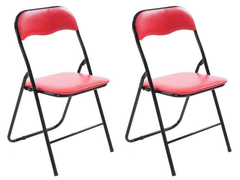 CLP Klappstuhl »Klappstuhl Felix« (2er Set), klappbar, pflegeleicht, gepolstert