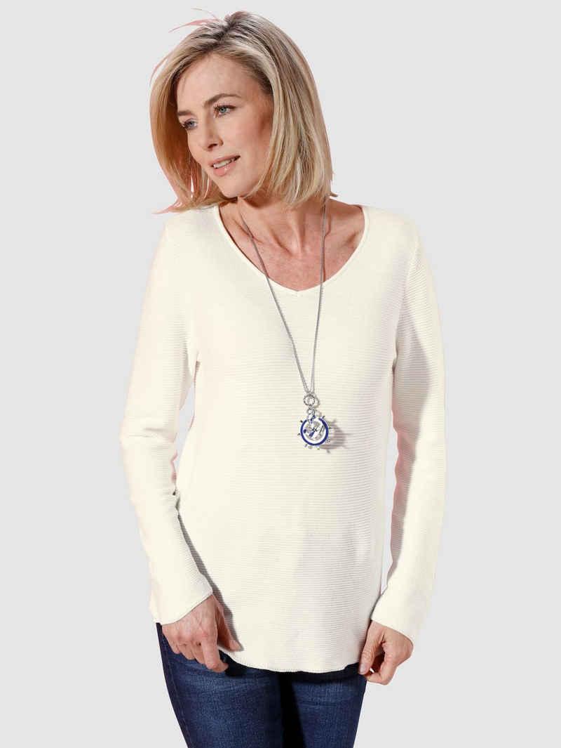 Dress In Pullover mit V-Ausschnitt