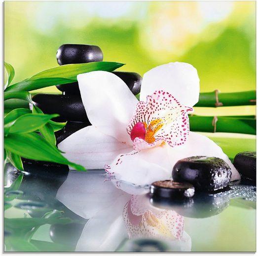 Artland Glasbild »Spa Steine Bambus Zweige Orchidee«, Zen (1 Stück)