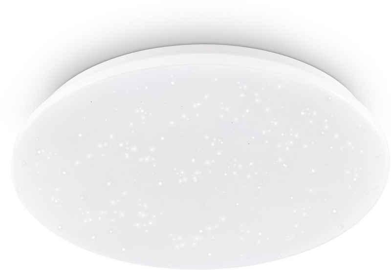 EGLO LED Deckenleuchte »POGLIOLA-S«, Sternenhimmel, Kristalleffekt, Modern, Deckenlampe Ø 50cm