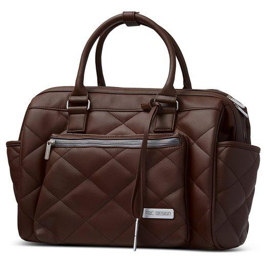 ABC Design Wickeltasche »Style - Dark Brown« (7-tlg), Windeltasche inkl. Wickelauflage, Flaschenwärmer und Utensilientasche