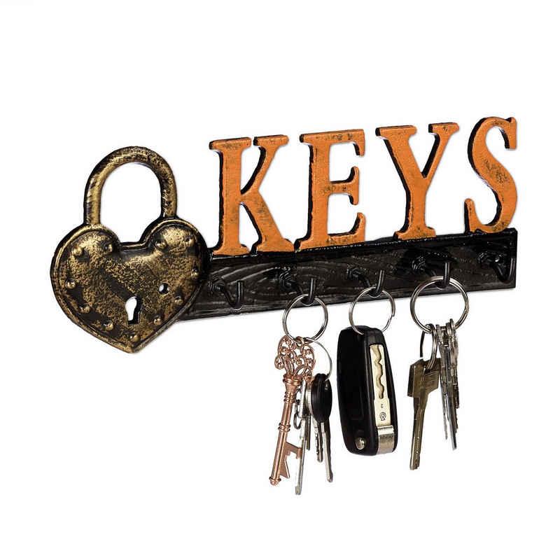relaxdays Schlüsselbrett »Schlüsselbrett Keys«
