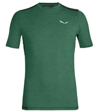 Salewa Funktionsshirt »SALEWA Pedroc Hybrid 2 Dry Shortsleeve Sport-Shirt komfortables Herren T-Shirt fürs Bergsteigen Fitness-Shirt Grün«