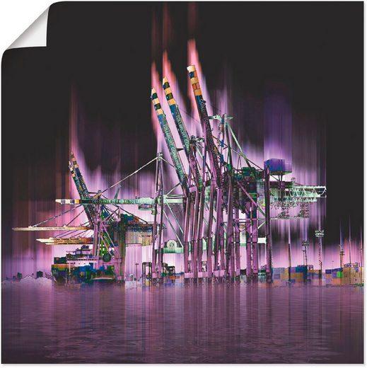 Artland Wandbild »Hamburg Hansestadt Collage 04«, Architektonische Elemente (1 Stück)