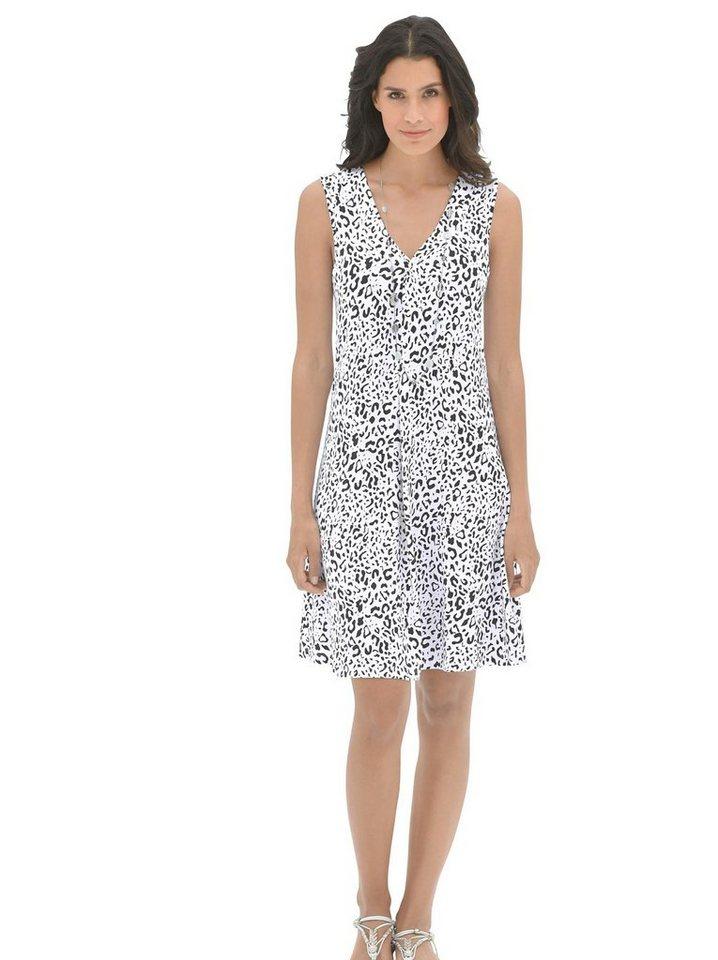 Damen Pastunette Strandkleid in figurumschmeichelnder A-Linie weiß   08713167722129