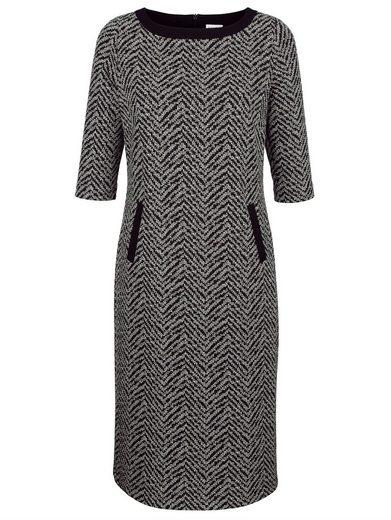 Mona Jerseykleid mit grafischem Jacquard