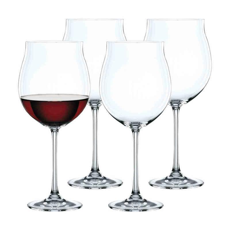 Nachtmann Rotweinglas »Vivendi Burgunderglas 4er Set«, Kristallglas