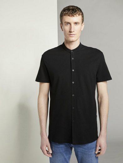 TOM TAILOR Denim Kurzarmhemd »Basic Kurzarmhemd mit Mao-Kragen«