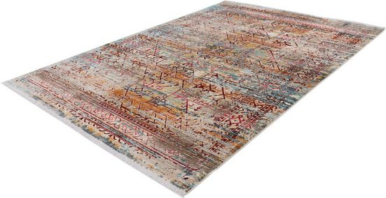 Teppich »My Inca 356«, Obsession, rechteckig, Höhe 6 mm, Kurzflor mit Fransen
