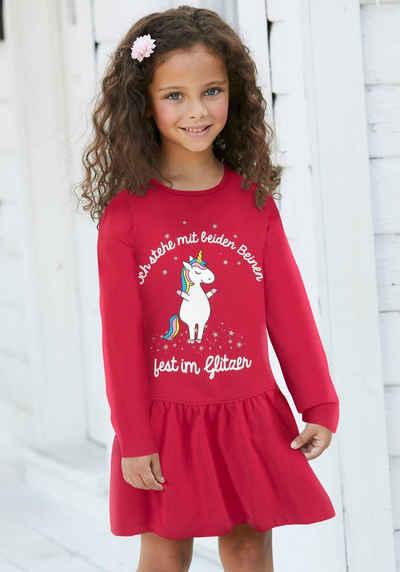 KIDSWORLD Jerseykleid »Einhorn« mit Sprüchedruck