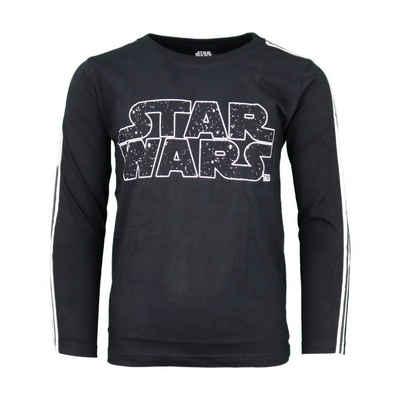 Star Wars Langarmshirt »Kinder Shirt« Gr. 134 bis 164, 100% Baumwolle, in Schwarz