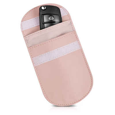 kwmobile Schlüsseltasche, für Autoschlüssel mit Diebstahlschutz - Keyless Go Hülle - 2 Innentaschen - RFID Blocker Auto Schlüssel Funkschlüssel Kunstleder Tasche
