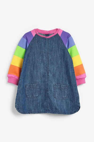 Next Jeanskleid »Kleid mit Regenbogen-Raglanärmeln« (1-tlg)