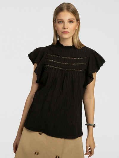 Apart Blusenshirt mit kurzen Volants-Ärmeln