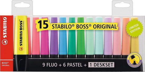 STABILO Marker »Leuchtmarker BOSS Original, 15 Farben«