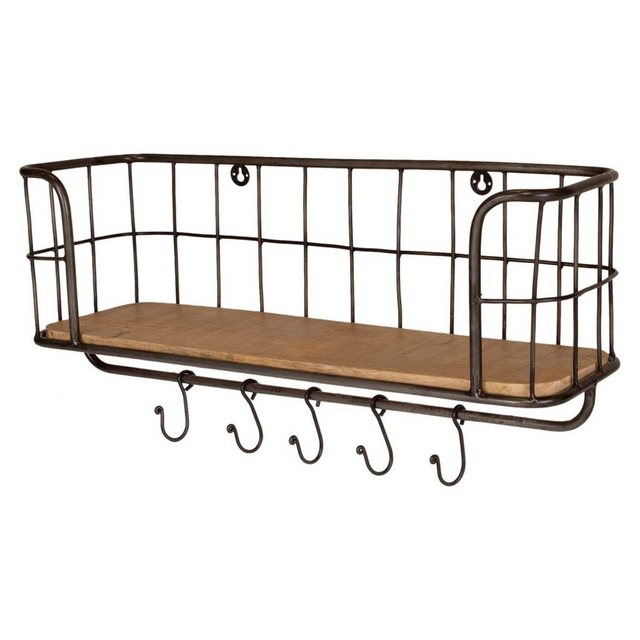 Badregale - mokebo Wandregal »Der Drahtige«, aus Holz und Metall, auch als Küchenregal oder Garderobenleiste  - Onlineshop OTTO