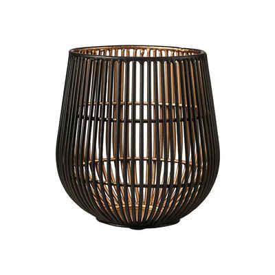 BUTLERS Teelichthalter »YOKO Teelichthalter Höhe 13cm«, schwarz-goldener Teelichthalter Höhe 13 cm - aus Eisen