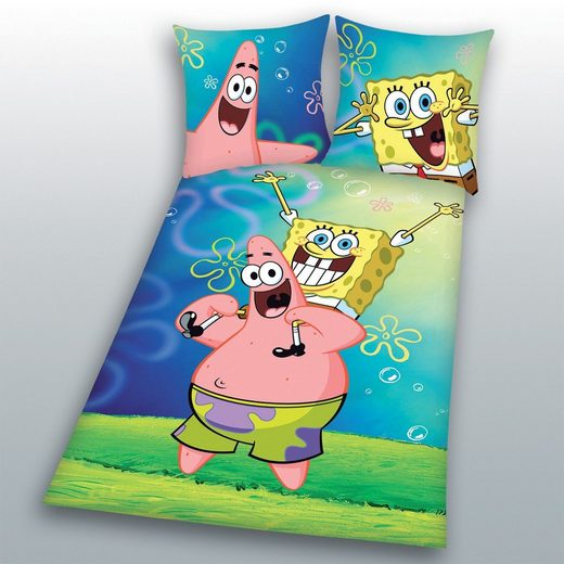 Bettwäsche »Patrick Biber/Flanell«, Sponge Bob