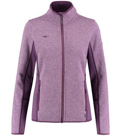 Kaikkialla Outdoorjacke »KAIKIALLA Annukka Fleece Jacke praktische Damen Midlayer-Jacke mit elastischen Einsätzen Trekking-Jacke Lila«