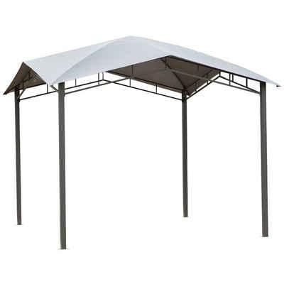 Outsunny Pavillon »Gartenzelt mit geometrischem Laubendach«