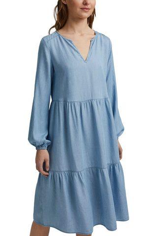 edc by Esprit Džinsinė suknelė su platus Schnitt ir ...