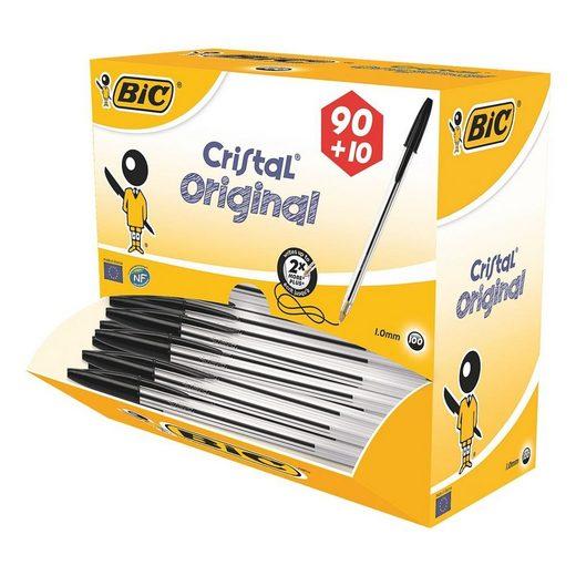 BIC Kugelschreiber »Cristal Original«, (100-tlg), im Großpack