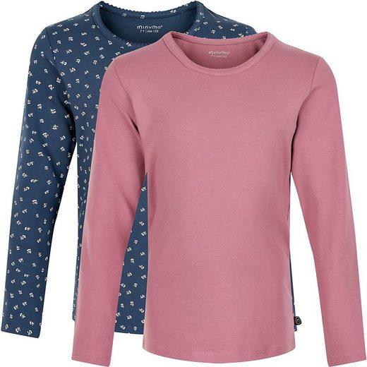 Minymo Langarmshirt »Langarmshirt 2er Pack für Mädchen«