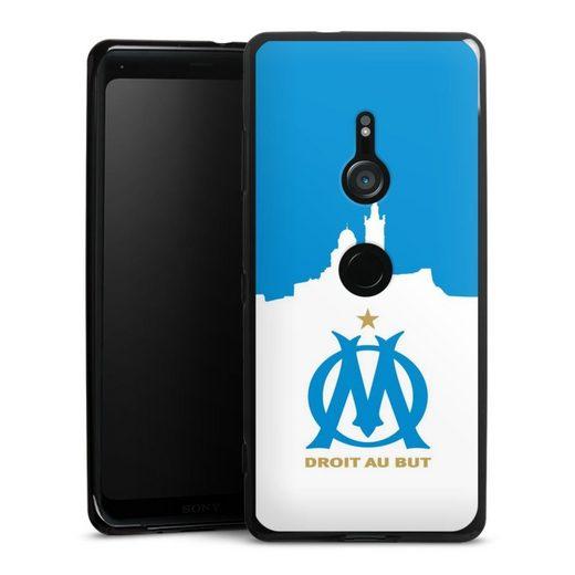 DeinDesign Handyhülle »White Silhouette Marseille« Sony Xperia XZ 3, Hülle Olympique de Marseille Offizielles Lizenzprodukt OM