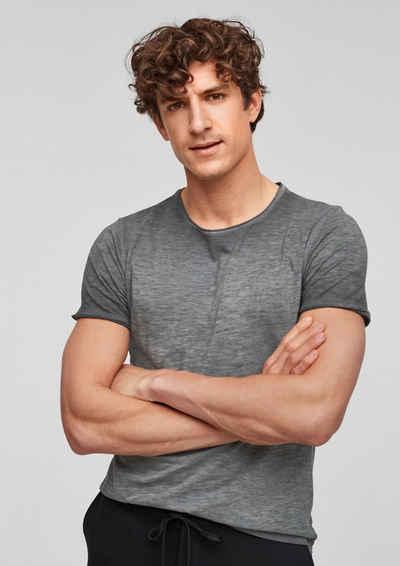 s.Oliver Kurzarmshirt »T-Shirt mit Farbeffekt« (1-tlg) Cold Pigment Dye