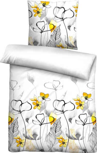 Bettwäsche »Tabea«, Biberna, mit tollen Rosenmotiven