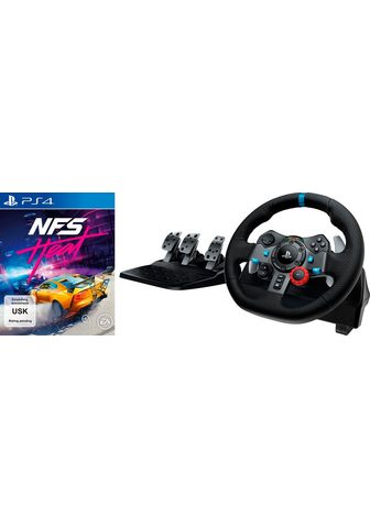 Logitech G »G29 Driving Force + PS4 NFS Heat« Len...