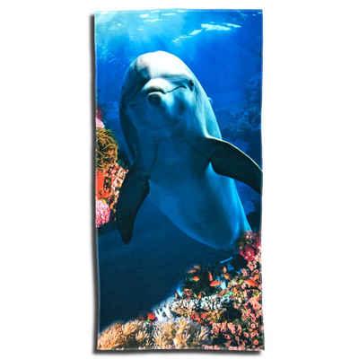 ESPiCO Strandtuch »Delfin« (1-St), Korallen, Riff, Fische