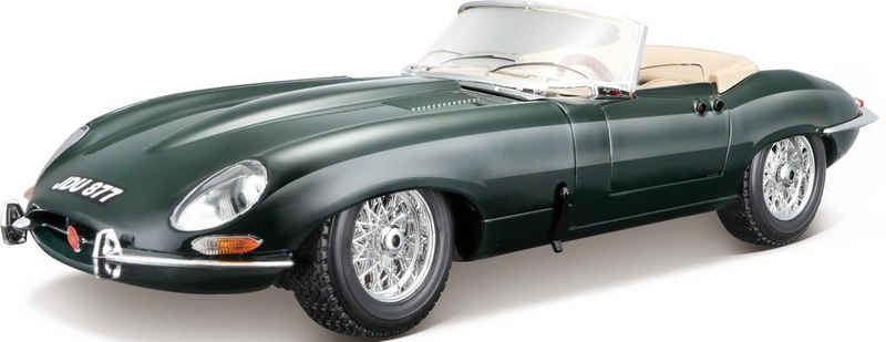 Bburago Sammlerauto »Jaguar E-Type Cabrio (1961)«, Maßstab 1:18