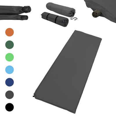 1PLUS Isomatte »Outdoor Isomatte, selbstaufblasend, ca. 2 m Länge, inkl. Flick Set - selbstaufblasbare Luftmatratze geeignet zum Camping und fürs Zelt mit kleinem Packmaß in versch. Farben, 3 cm Polsterdicke«