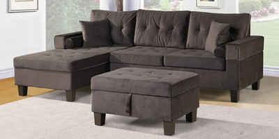 HOME DELUXE Sofa »Rom«, 2 Teile, breite bequeme Sitzfläche