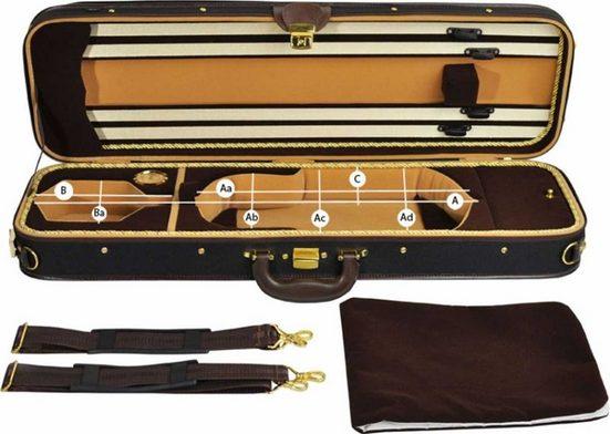 Steinbach Violinen-Koffer »Steinbach 4/4 Geigenkoffer Rechteckmodell braunbeige Zierborde mit Rucksackriemen«