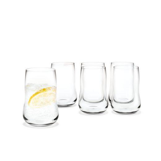 HOLMEGAARD Glas »Future für 25 cl; Wasserglas / Saftglas im 6er Set«, Glas